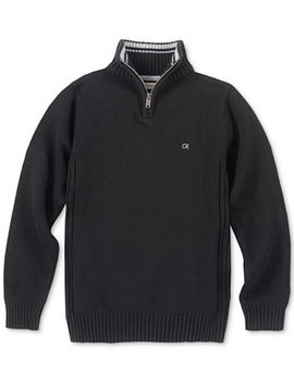 Big Boys Scalar Quarter Zip Sweater by Calvin Klein