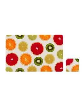 Premier Housewares Juicy Fruity Placemats And Coasters   Set Of 4 by Premier Housewares