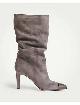 Amira Suede Heeled Boots by Ann Taylor