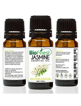 Bio Finest Jasmine Essential Oil   100 Percents Pure Undiluted   Therapeutic Grade   Premium Quality   Best For Aromatherapy, Deep Sleep, Stretch Marks And Dry... by Bio Finest