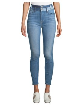 High Waist Ankle Skinny Jeans W/ Double Waistband by 7 For All Mankind
