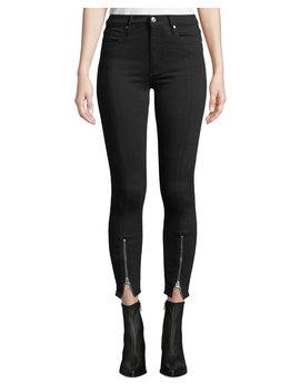 Nola Zip Hem Skinny Jeans by Black Orchid