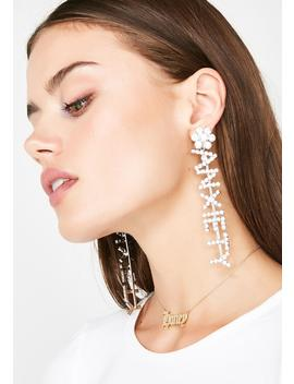 Anxiety Princess Crystal Earrings by Fame Accessories
