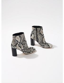 Autumn Snakeskin Boots by Miss Selfridge