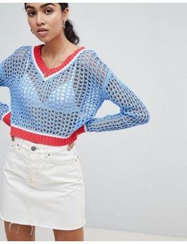 Glamorous – Cricket – Grobstrick Pullover Mit Kontrastsäumen by Glamorous