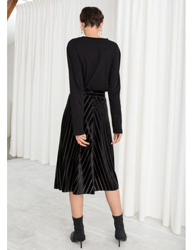 Velvet Chevron A Line Skirt by & Other Stories