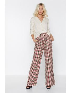 Life's A Catwalk Check Pants by Nasty Gal
