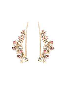 Rhinestone Butterfly Ear Pins by Forever 21