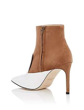 Oscar Suede & Patent Leather Ankle Boots by Giannico