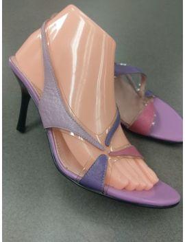 Anne Klein Lavender 7.5 M Purple Pink 3 Inch Heel Slingback Strappy by Anne Klein