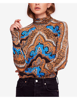 Chase Me Tee Printed Turtleneck Top by Free People