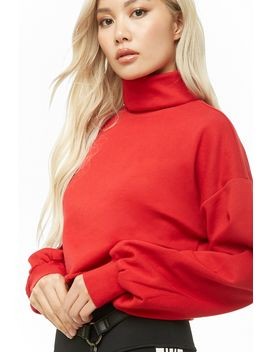 Turtleneck Fleece Pullover by Forever 21