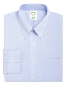 Men's Milano Extra Slim Fit Non Iron Pinpoint Solid Dress Shirt by Brooks Brothers