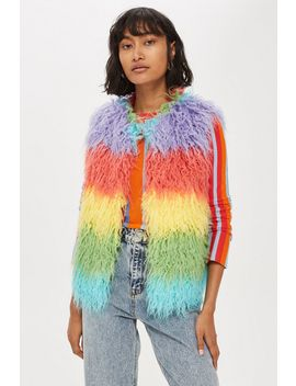 Multicoloured Gilet by Topshop