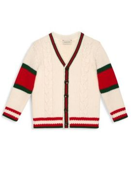 Little Girl's & Girl's Striped Cardigan by Gucci