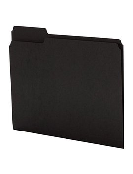 "Office Depot Brand Color File Folders, 8 1/2"" X 11"", Letter Size, Black, Box Of 100 by Office Depot"