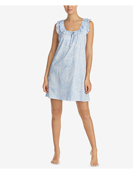 Classic Knits Ruffle Trim Cotton Nightgown by Lauren Ralph Lauren