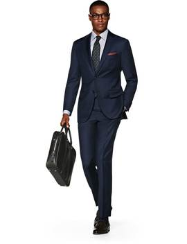 La Spalla Anzug Blau Uni by Suitsupply