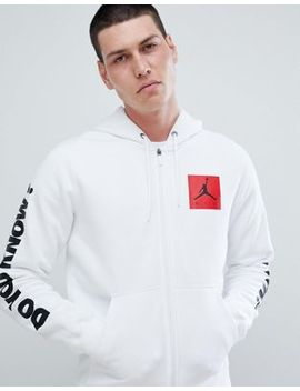 Nike Jordan Aj3 Full Zip Hoodie With Arm Print In White 943924 100 by Jordan