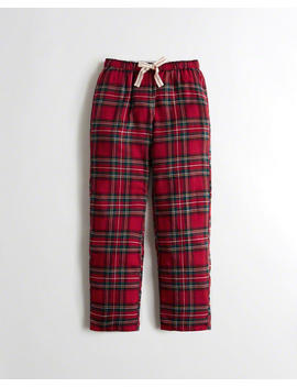 Straight Leg Flannel Boyfriend Sweatpants by Hollister