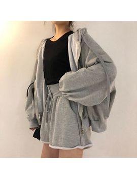 Monroll   Hooded Zip Jacket / Drawstring Shorts by Monroll