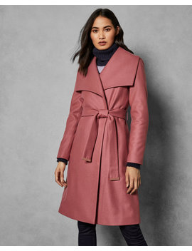 Statement Collared Wool Coat by Ted Baker