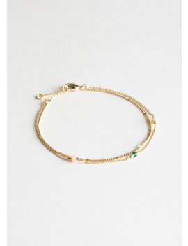 Beaded Duo Chain Bracelet by & Other Stories