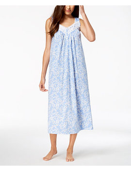 Long Lace Trim Nightgown, Created For Macy's by Charter Club