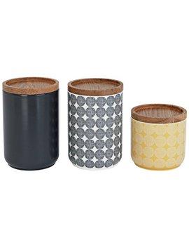 Sainsbury's Home Helsinki Set Of 3 Storage Jars   Multi by Argos