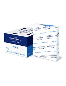 Hammermill Paper, Copy Paper, 8.5 X 11 Paper, Letter Size, 20lb Paper, 92 Bright, 3 Ream Case / 1,500 Sheets (113620 C) Acid Free Paper by Hammermill