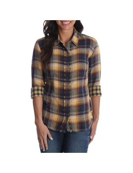 Women's Long Sleeve Woven Shirt With Fraying by Lee Riders