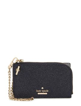 Burgess Court   Ivey Glitter Leather Card Holder by Kate Spade New York