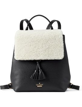 Hayes Street   Teba Genuine Shearling & Leather Backpack by Kate Spade New York