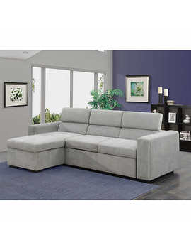 Petra Grey Sofa Bed With Left Hand Facing Chaise by Costco