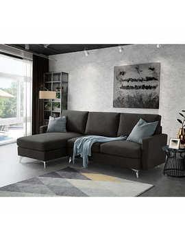 Brescia Fabric Sofa With Reversible Chaise by Costco