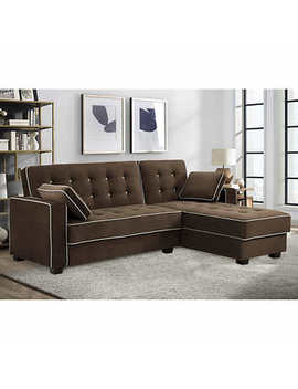 Sealy Belize Brown Sofa Lounger With Reversible Chaise by Costco