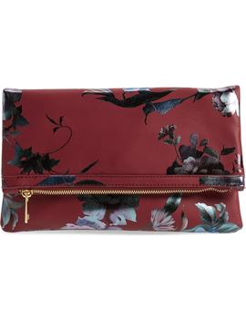 Floral Print Foldover Clutch by Bp.
