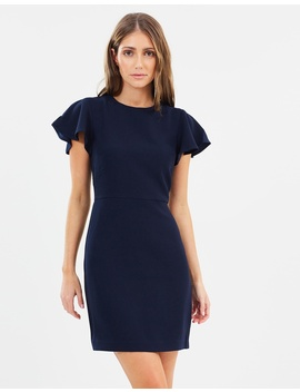 Frill Sleeve Dress by Warehouse