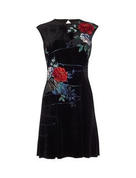 Floral Velvet Mini Dress by Dd239 Td171 Dd174 Dd135 Dd143 Dd227 Pc106