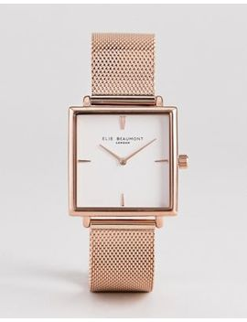 Elie Beaumont Eb818.4 Watch With Rose Gold Case And Mesh Strap by Watch
