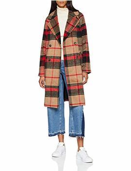 Pieces Damen Mantel Pcdulla Check Coat Bf by