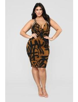 His Masterpiece Midi Dress   Mustard by Fashion Nova