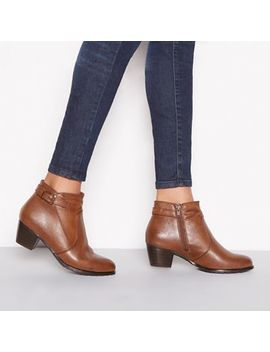 Good For The Sole   Chocolate Brown 'gerdie' Mid Block Heel Wide Fit Ankle Boots by Good For The Sole