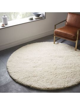 Darby Wool Shag Rug   Round by West Elm