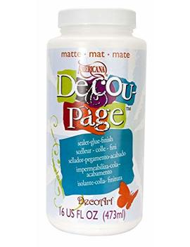 Deco Art 16 Ounce Decoupage Glue, Matte Finish by Deco Art