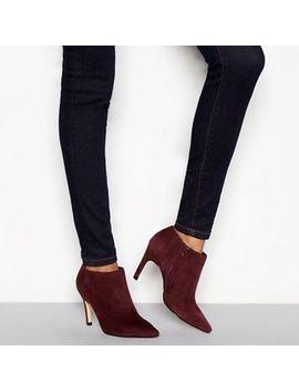 j-by-jasper-conran---wine-suede-janana-stiletto-heel-ankle-boots by j-by-jasper-conran
