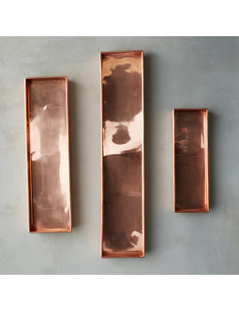 Habit + Form Solid Copper Rectangle Tray by Terrain