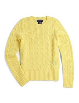 Girl's Cable Knit Cashmere Sweater by Ralph Lauren