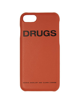 Orange 'drugs' I Phone 7 Case by Raf Simons