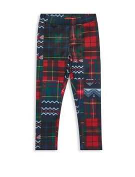 Little Girl's & Girl's Patchwork Leggings by Ralph Lauren